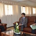 Visite de l'Ambassadeur du Japon