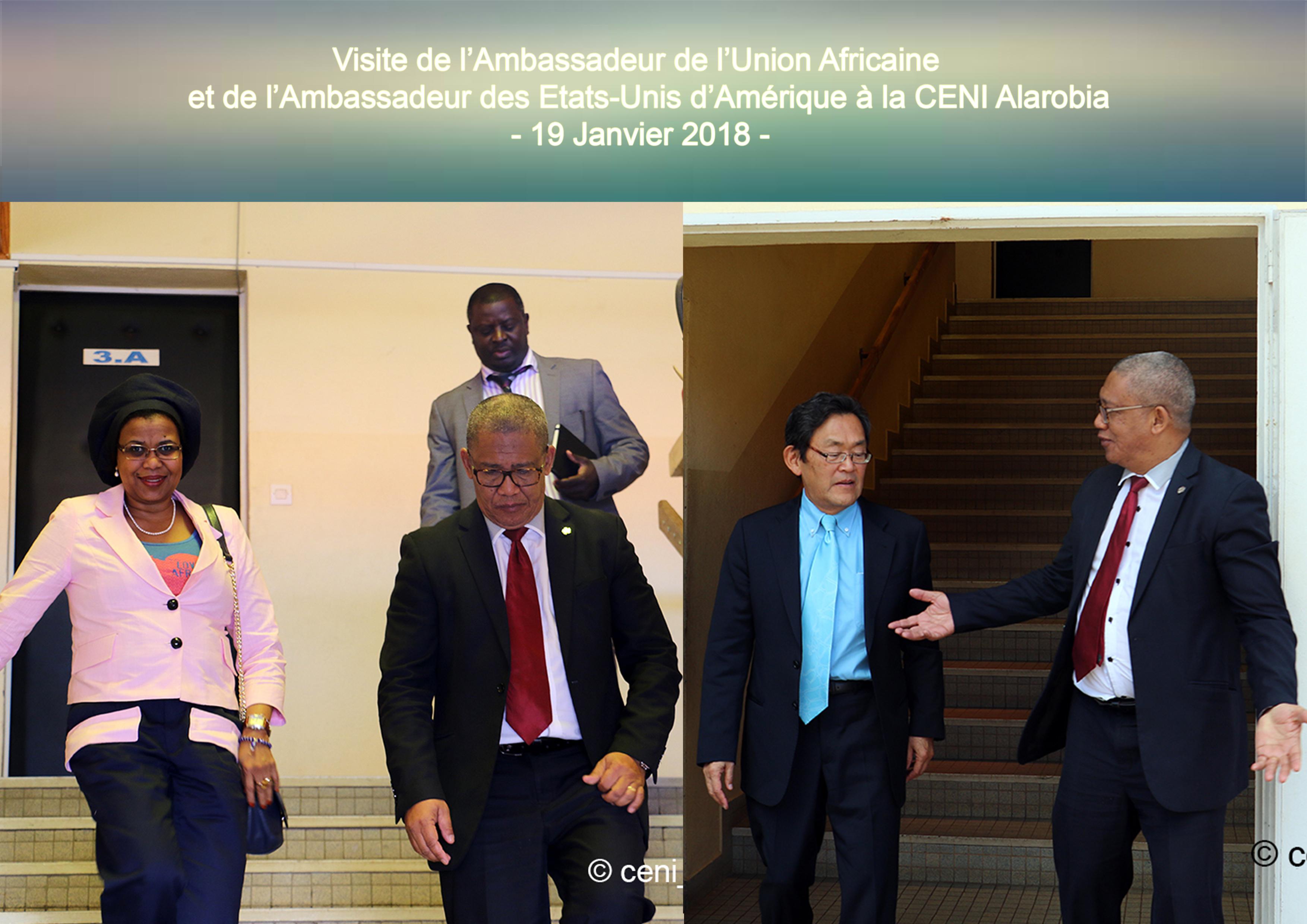 Visite des ambassadeurs au Président de la CENI