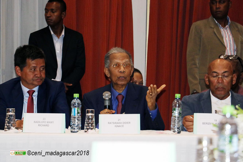 Rencontre entre la CENI et les candidats à l'élection présidentielle 2018