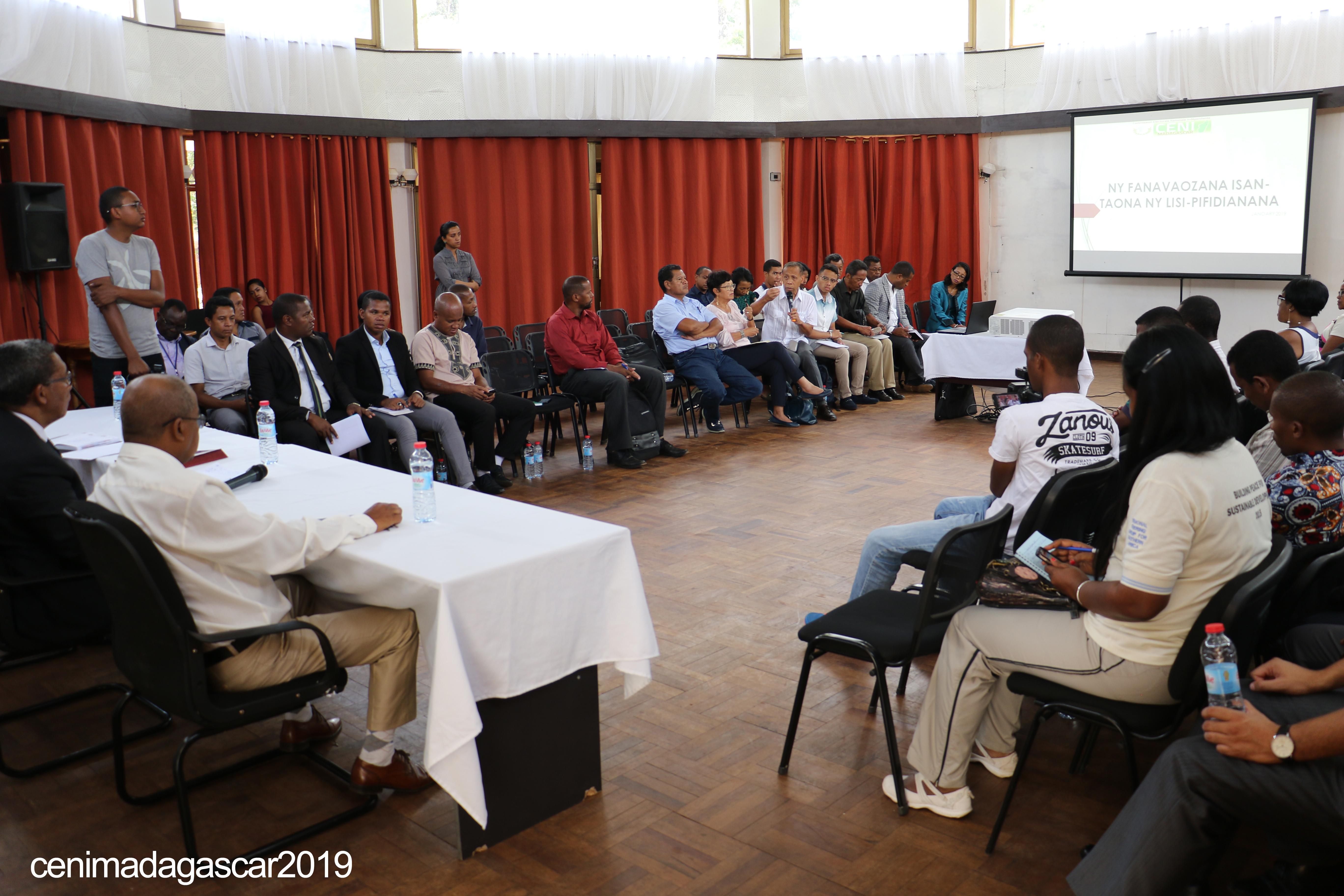 Cadre de concertation multi-acteurs sur la révision de la liste électorale