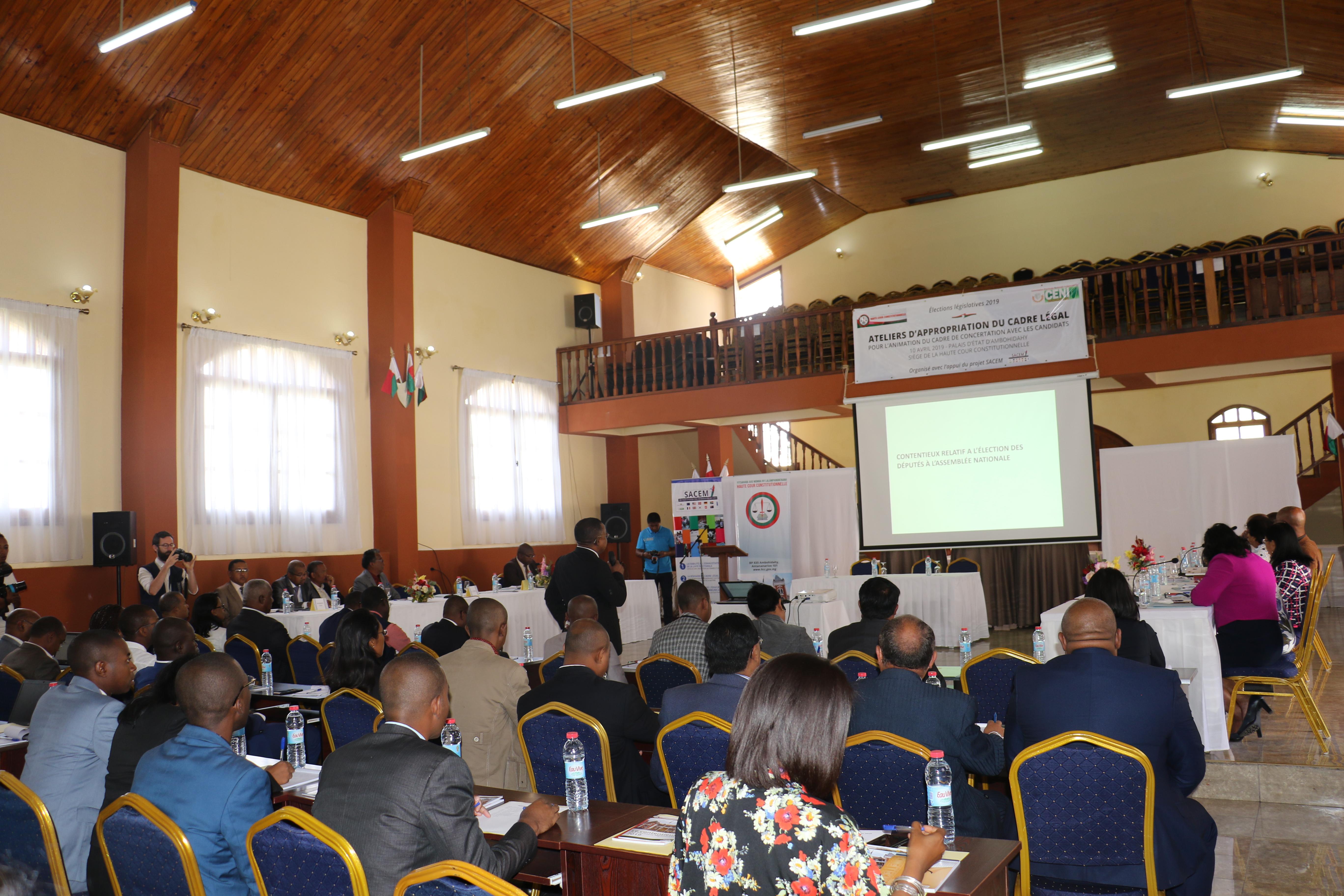 Formation des formateurs sur le cadre légal des élections législatives