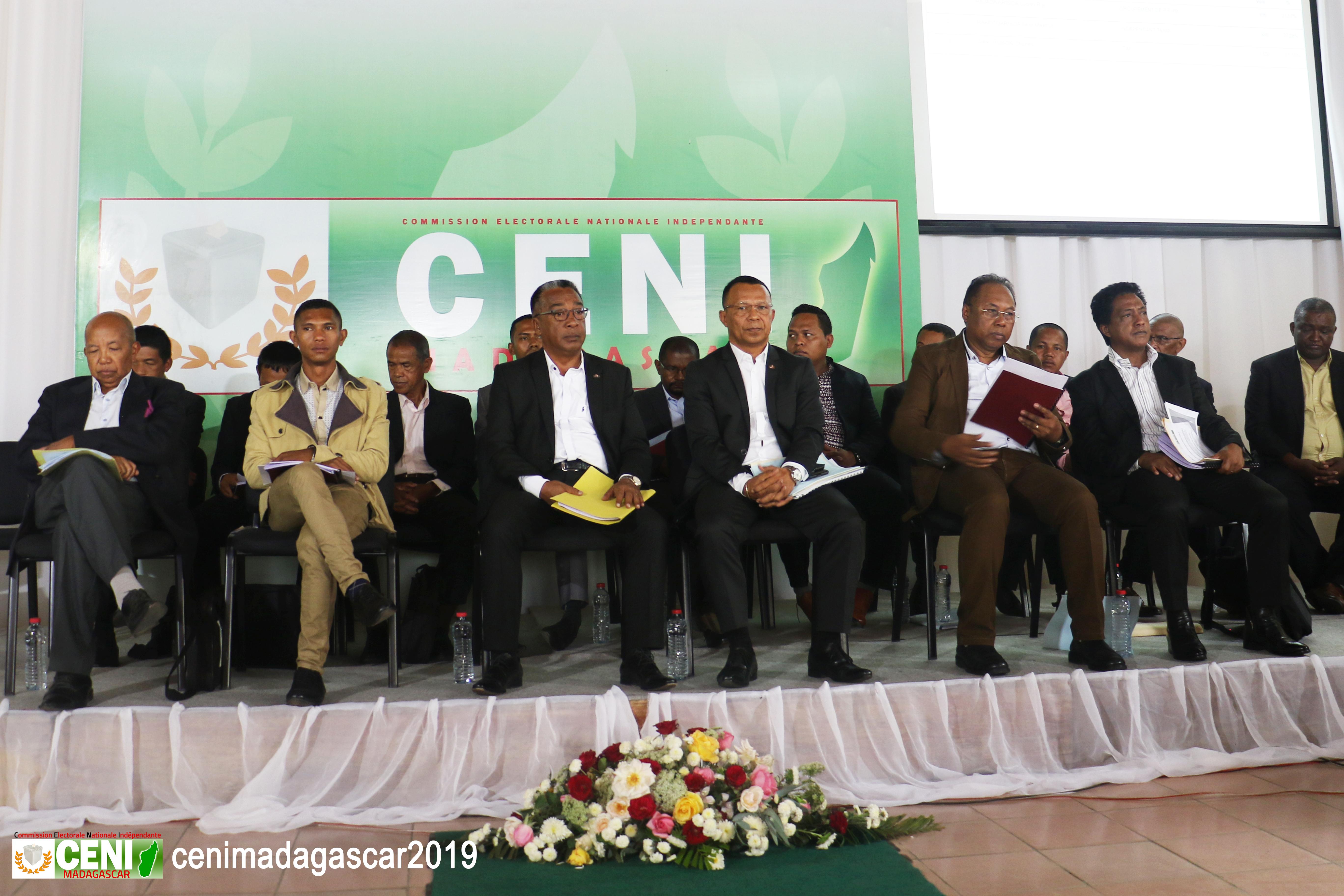 Cérémonie de publication des résultats provisoires (Province d'Antananarivo)
