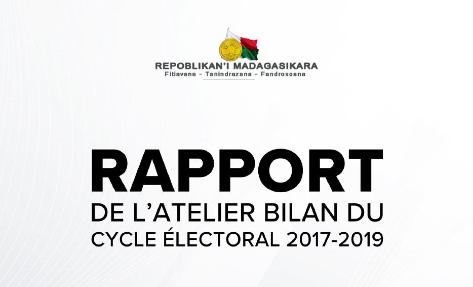 Rapport de l'atelier bilan du cycle électoral 2017-2019